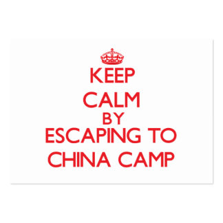 Keep calm by escaping to China Camp California Business Card Template