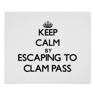 Keep calm by escaping to Clam Pass Florida Posters