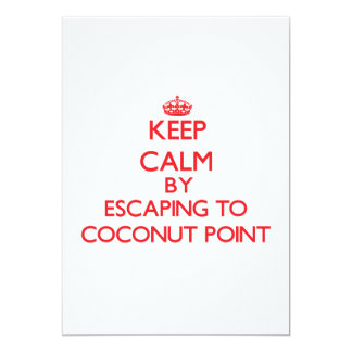 """Keep calm by escaping to Coconut Point Samoa 5"""" X 7"""" Invitation Card"""