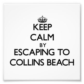 Keep calm by escaping to Collins Beach Rhode Islan Photo Print