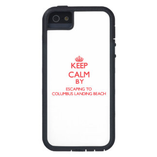 Keep calm by escaping to Columbus Landing Beach Vi Cover For iPhone 5