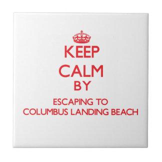 Keep calm by escaping to Columbus Landing Beach Vi Tiles