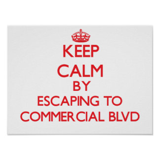 Keep calm by escaping to Commercial Blvd Florida Print