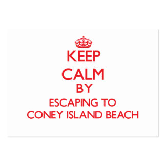 Keep calm by escaping to Coney Island Beach New Yo Business Card
