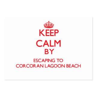Keep calm by escaping to Corcoran Lagoon Beach Cal Business Card Template
