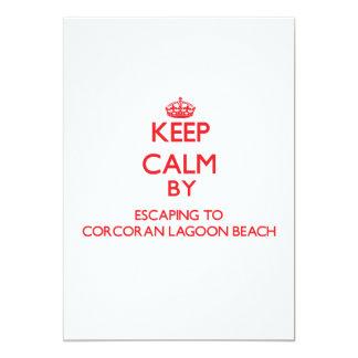 Keep calm by escaping to Corcoran Lagoon Beach Cal Custom Announcement