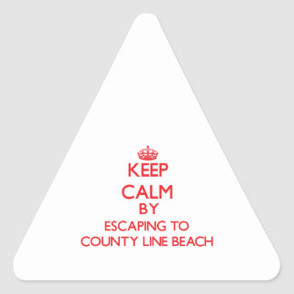 Keep calm by escaping to County Line Beach Califor Triangle Sticker