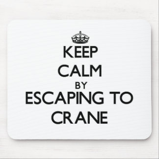 Keep calm by escaping to Crane Massachusetts Mouse Pad