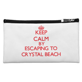 Keep calm by escaping to Crystal Beach Texas Cosmetic Bag