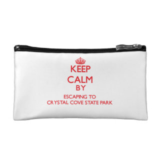 Keep calm by escaping to Crystal Cove State Park C Cosmetics Bags