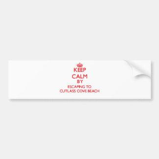 Keep calm by escaping to Cutlass Cove Beach Florid Car Bumper Sticker