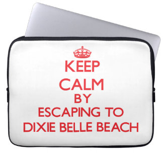 Keep calm by escaping to Dixie Belle Beach Florida Laptop Computer Sleeve