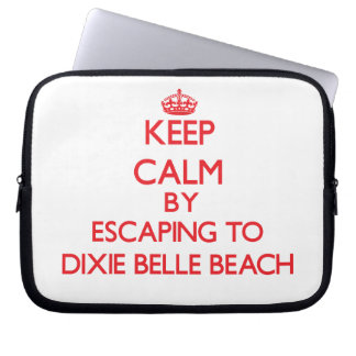 Keep calm by escaping to Dixie Belle Beach Florida Laptop Computer Sleeves