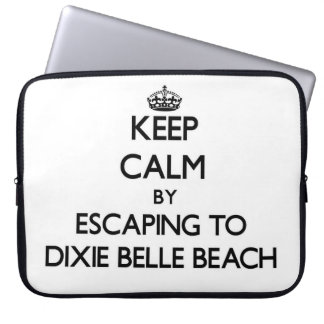 Keep calm by escaping to Dixie Belle Beach Florida Laptop Sleeve