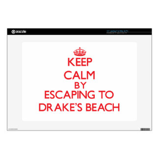 """Keep calm by escaping to Drake'S Beach California Decal For 15"""" Laptop"""