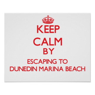 Keep calm by escaping to Dunedin Marina Beach Flor Posters