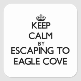 Keep calm by escaping to Eagle Cove Washington Square Sticker
