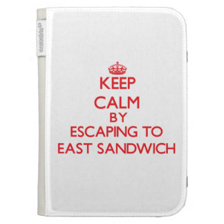 Keep calm by escaping to East Sandwich Massachuset Kindle Cases