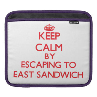 Keep calm by escaping to East Sandwich Massachuset Sleeves For iPads