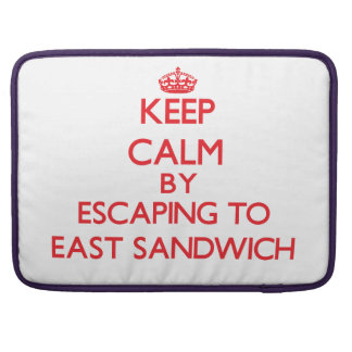 Keep calm by escaping to East Sandwich Massachuset MacBook Pro Sleeves