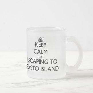 Keep calm by escaping to Edisto Island South Carol Coffee Mug