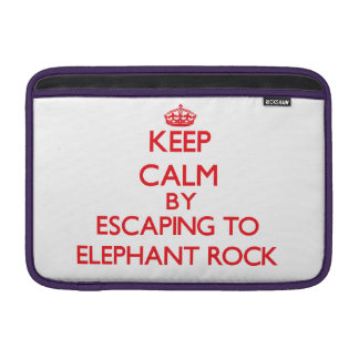 Keep calm by escaping to Elephant Rock Massachuset MacBook Sleeves