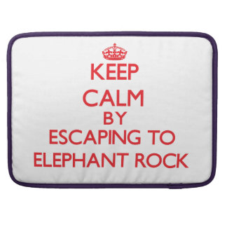 Keep calm by escaping to Elephant Rock Massachuset Sleeves For MacBook Pro
