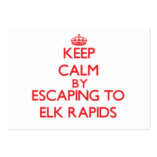 Keep calm by escaping to Elk Rapids Michigan Business Card Template