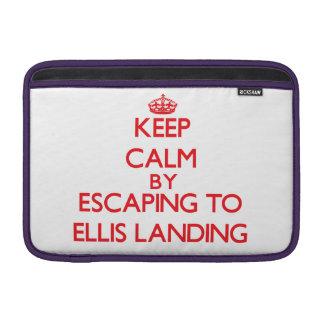 Keep calm by escaping to Ellis Landing Massachuset MacBook Sleeve