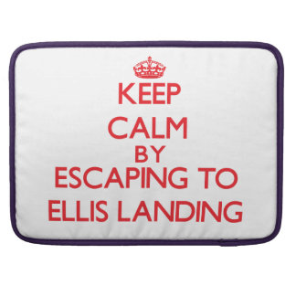 Keep calm by escaping to Ellis Landing Massachuset Sleeve For MacBooks