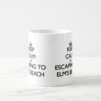 Keep calm by escaping to Elm'S Beach Maryland Coffee Mug