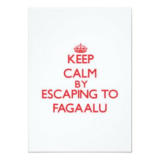 "Keep calm by escaping to Fagaalu Samoa 5"" X 7"" Invitation Card"