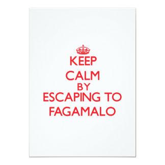 "Keep calm by escaping to Fagamalo Samoa 5"" X 7"" Invitation Card"