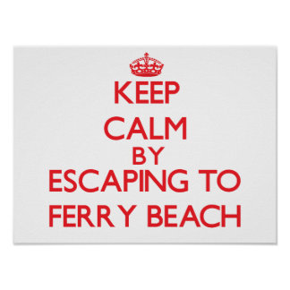 Keep calm by escaping to Ferry Beach Michigan Print