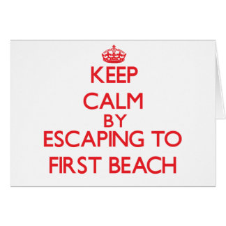 Keep calm by escaping to First Beach Guam Greeting Cards