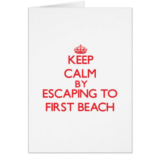Keep calm by escaping to First Beach Guam Greeting Card