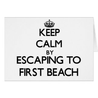 Keep calm by escaping to First Beach Guam Card