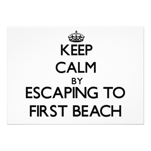 Keep calm by escaping to First Beach Guam Personalized Invites