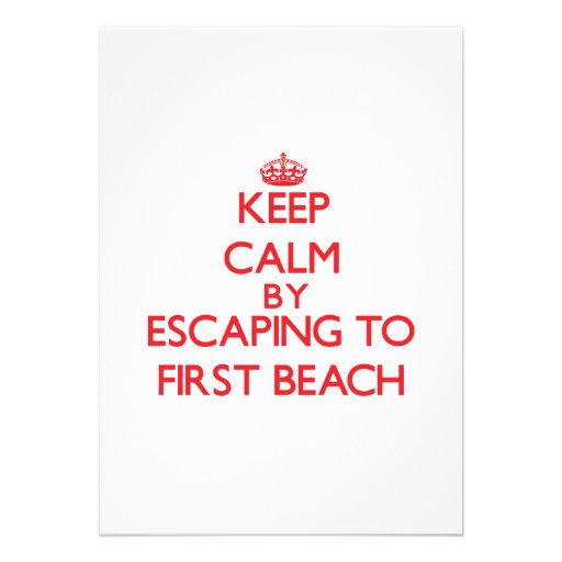 Keep calm by escaping to First Beach Guam Custom Invites