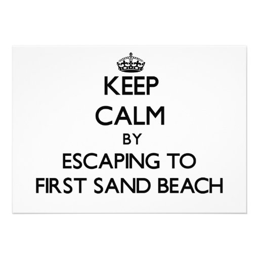 Keep calm by escaping to First Sand Beach Michigan Card