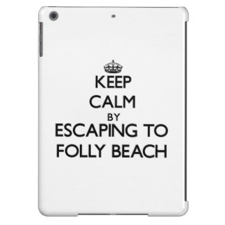 Keep calm by escaping to Folly Beach South Carolin iPad Air Cases