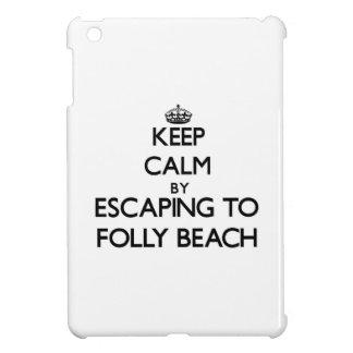 Keep calm by escaping to Folly Beach South Carolin iPad Mini Covers