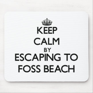 Keep calm by escaping to Foss Beach New Hampshire Mousepad