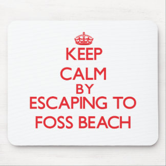 Keep calm by escaping to Foss Beach New Hampshire Mousepads