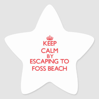 Keep calm by escaping to Foss Beach New Hampshire Star Stickers