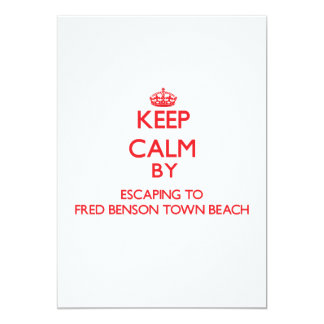 Keep calm by escaping to Fred Benson Town Beach Rh 5x7 Paper Invitation Card