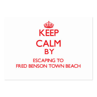 Keep calm by escaping to Fred Benson Town Beach Rh Large Business Cards (Pack Of 100)