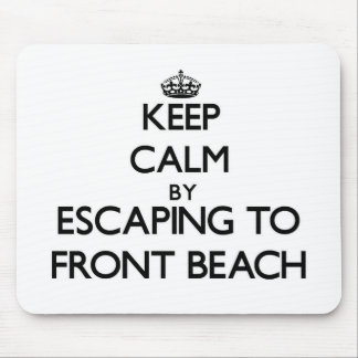 Keep calm by escaping to Front Beach Massachusetts Mousepads