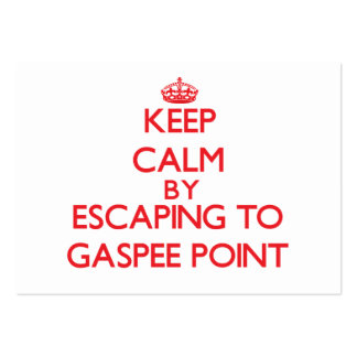 Keep calm by escaping to Gaspee Point Rhode Island Large Business Cards (Pack Of 100)