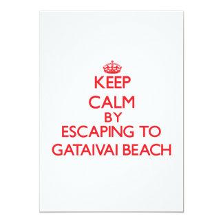"Keep calm by escaping to Gataivai Beach Samoa 5"" X 7"" Invitation Card"